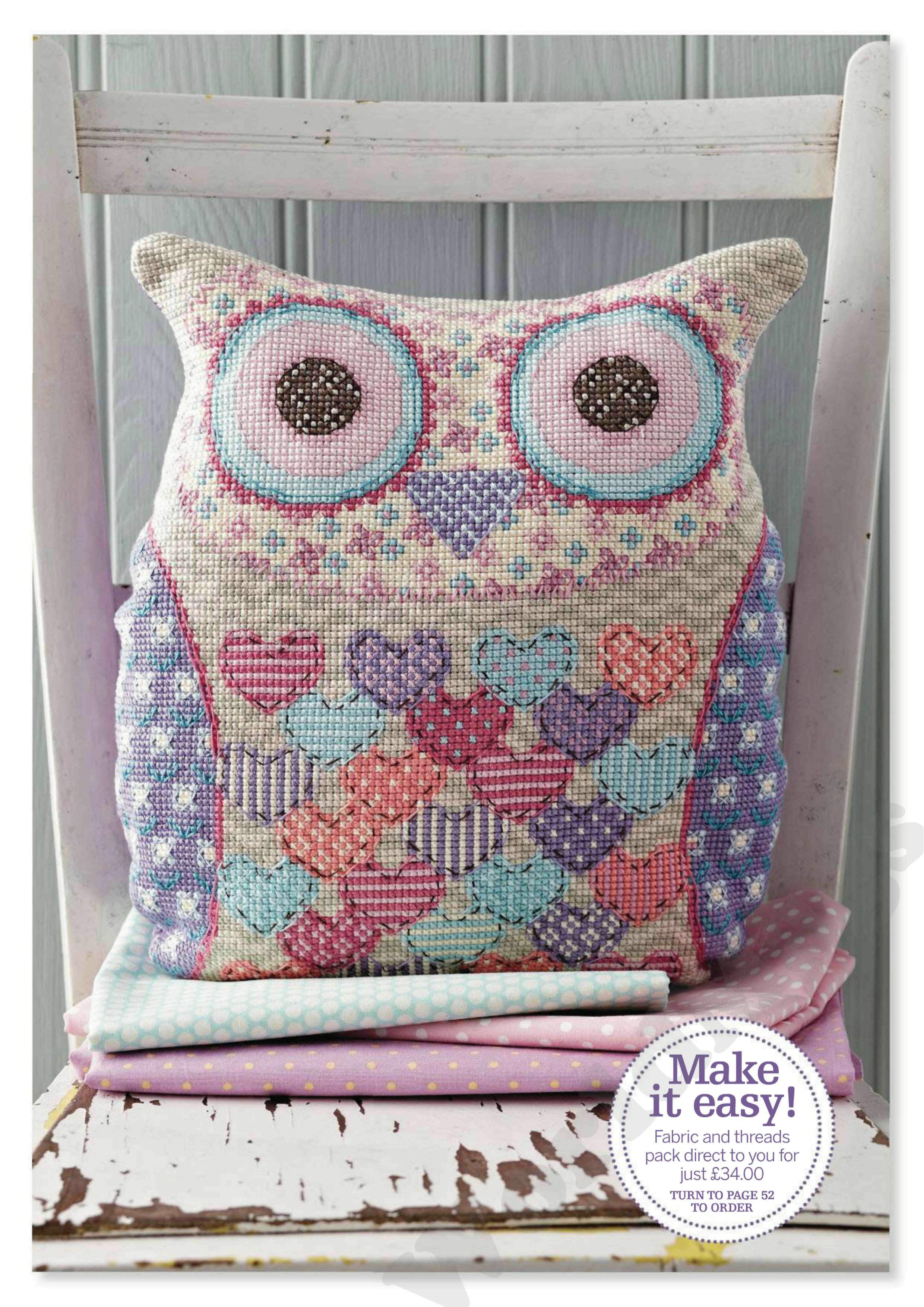 Вышивка для подушки декоративная