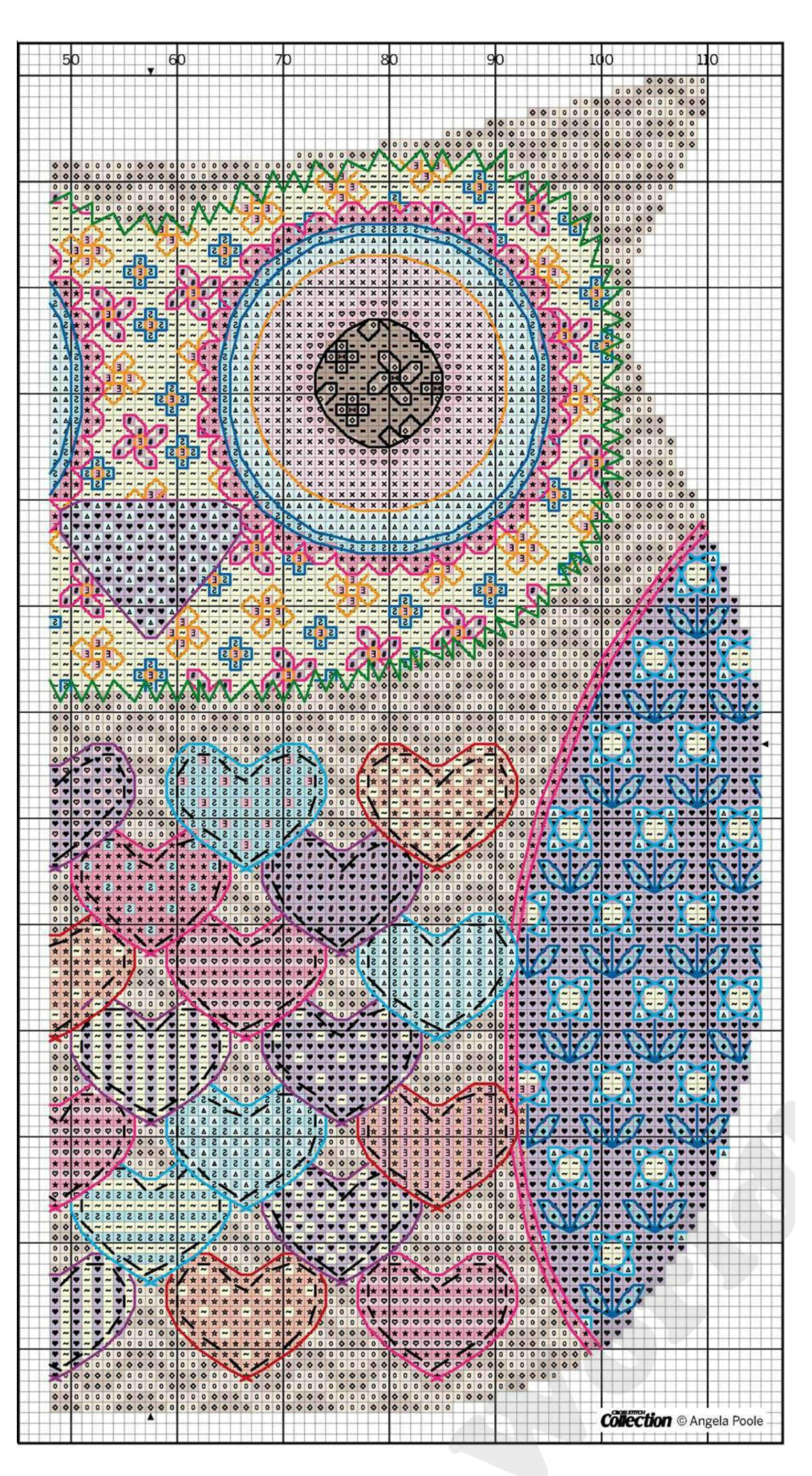 Подушка сова схема вышивка