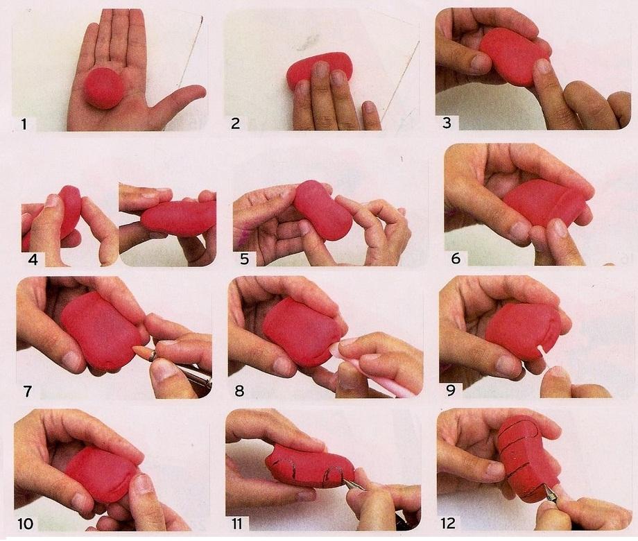 Как сделать молнию маквина из пластилина