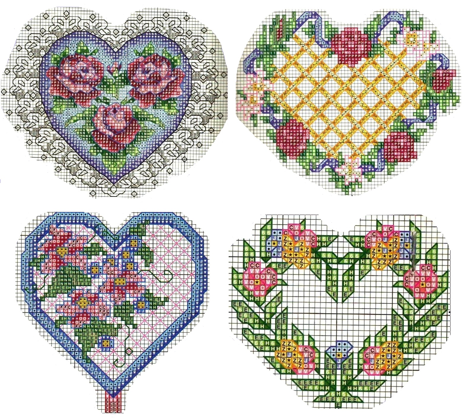 Схемы вышивки крестиком на открытки к 14 февраля, четверг картинки поздравления