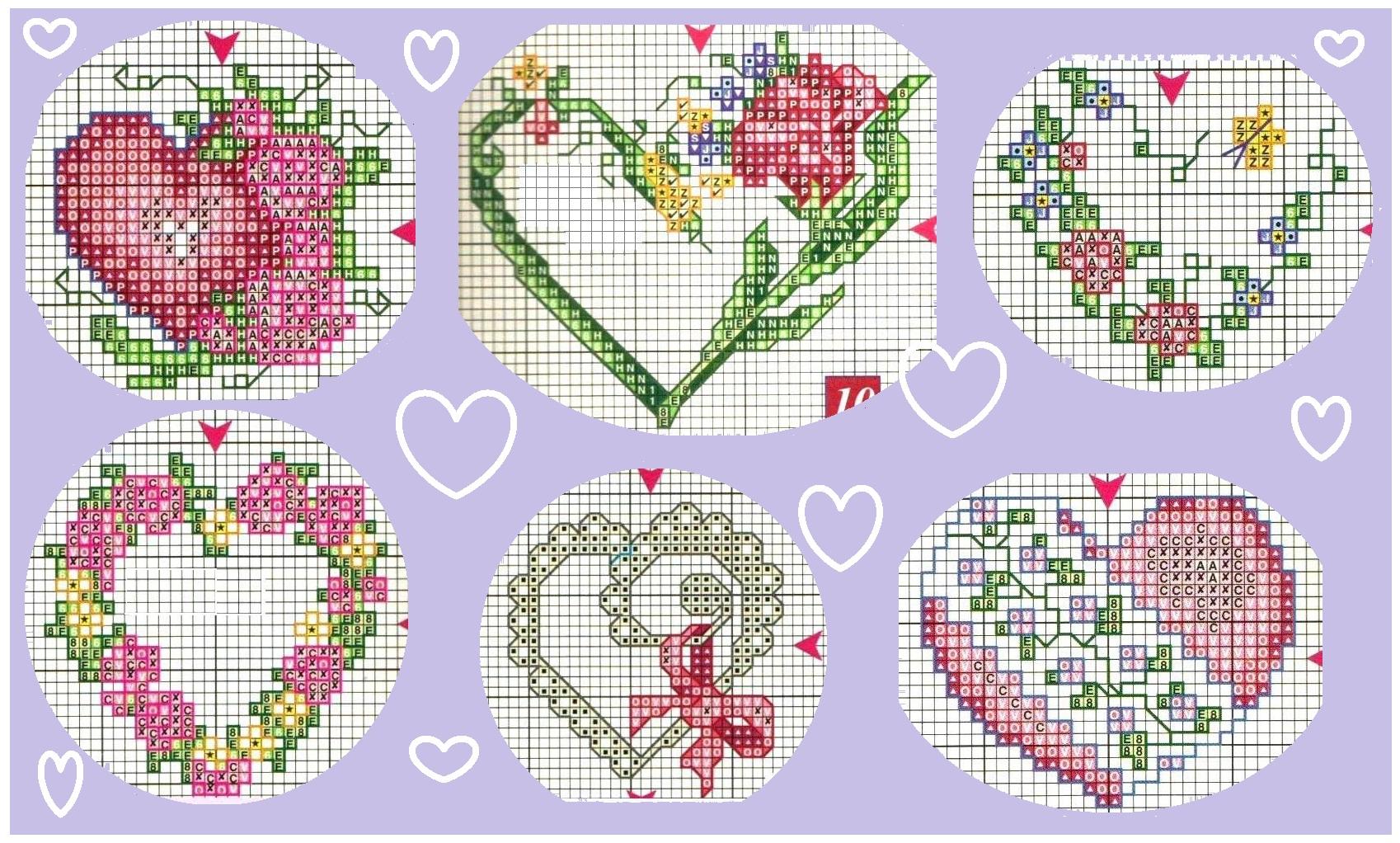 Бесплатная схема вышивки сердца