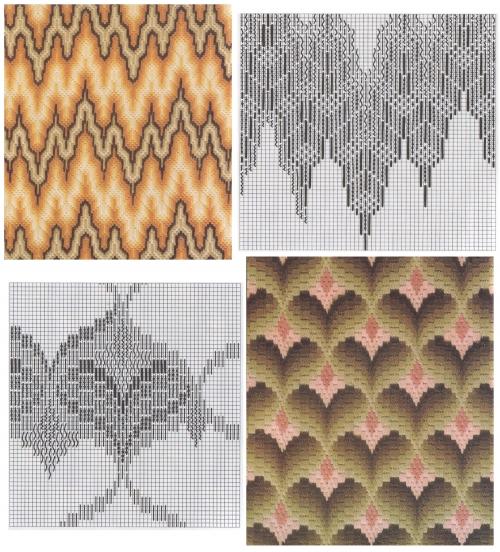 схема вышивки узор флорентийская вышивка барджелло