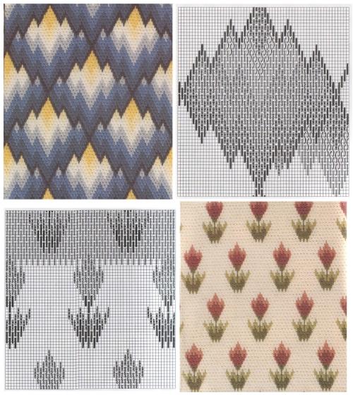 узоры вышивки, венгерский стежок, схема вышивки в технике барджелло