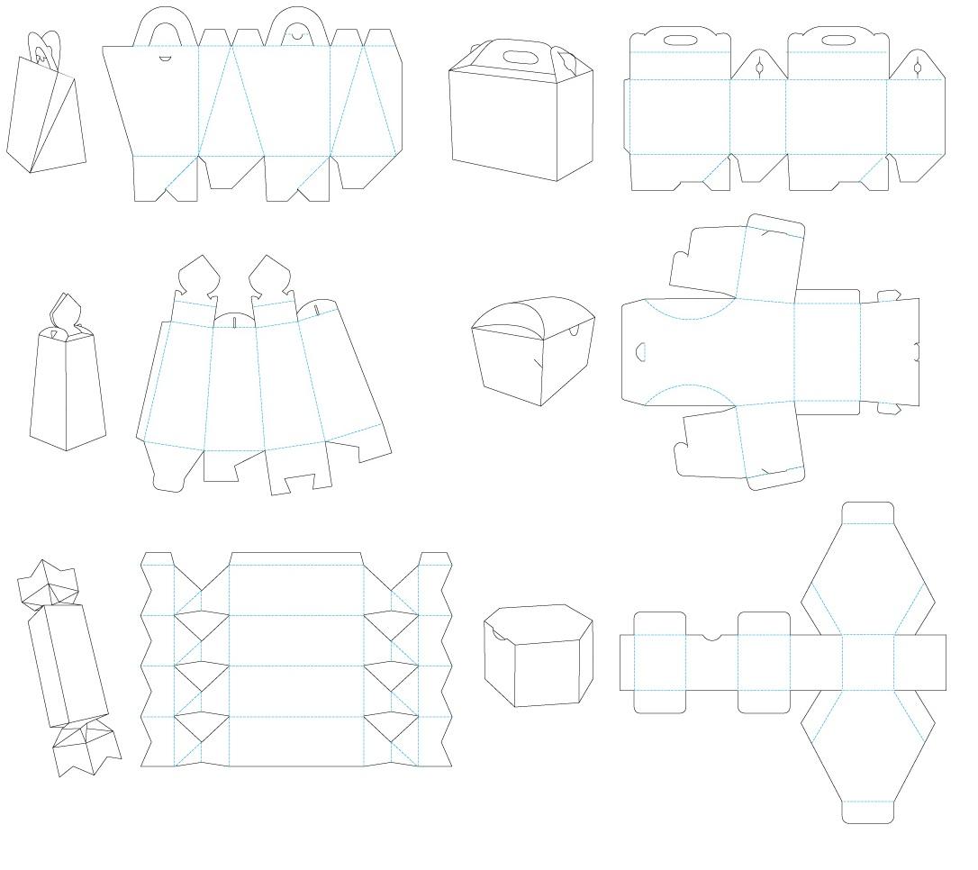 Шаблоны коробочек для подарков скачать