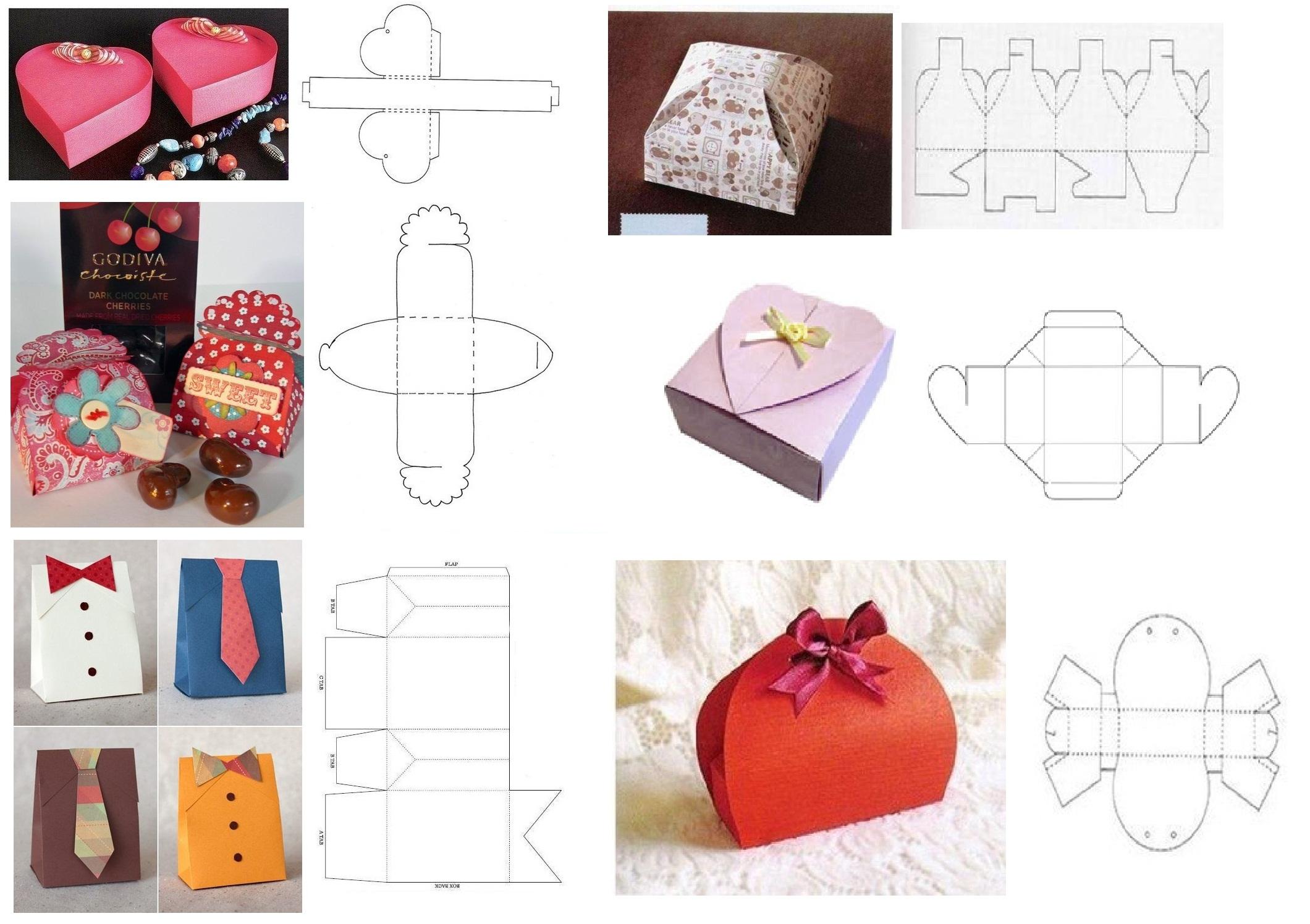 Картонные коробки для упаковки подарков своими руками