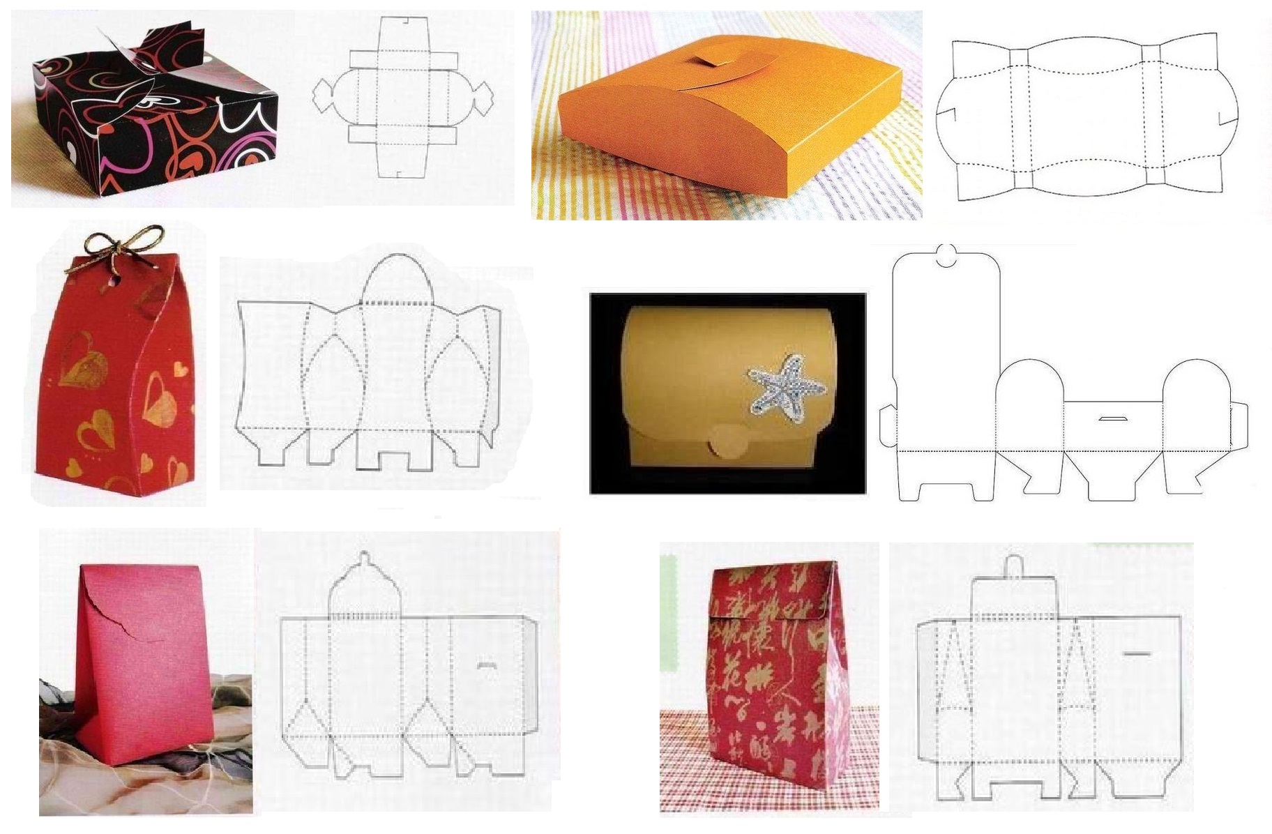 Шаблоны для подарочных коробок