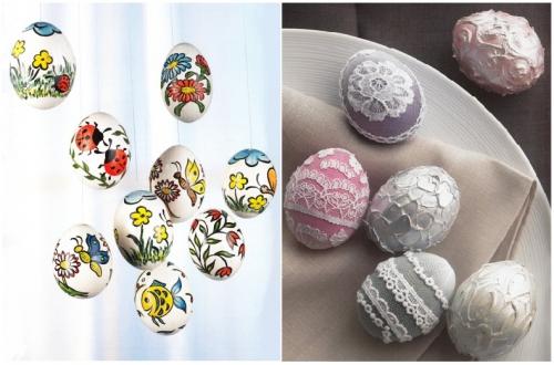 Декор на яйцах своими руками