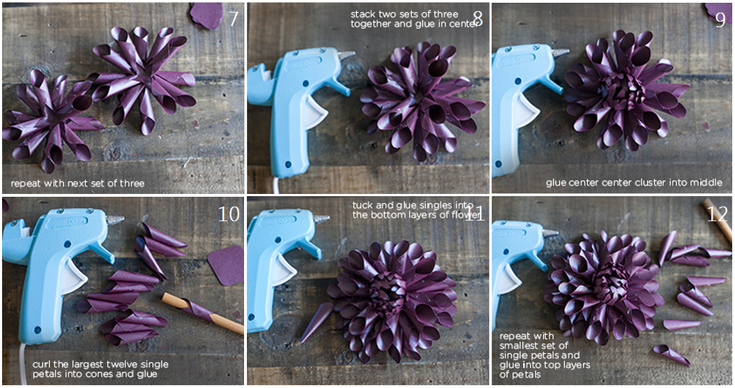 Мк как сделать цветы из бумаги своими руками