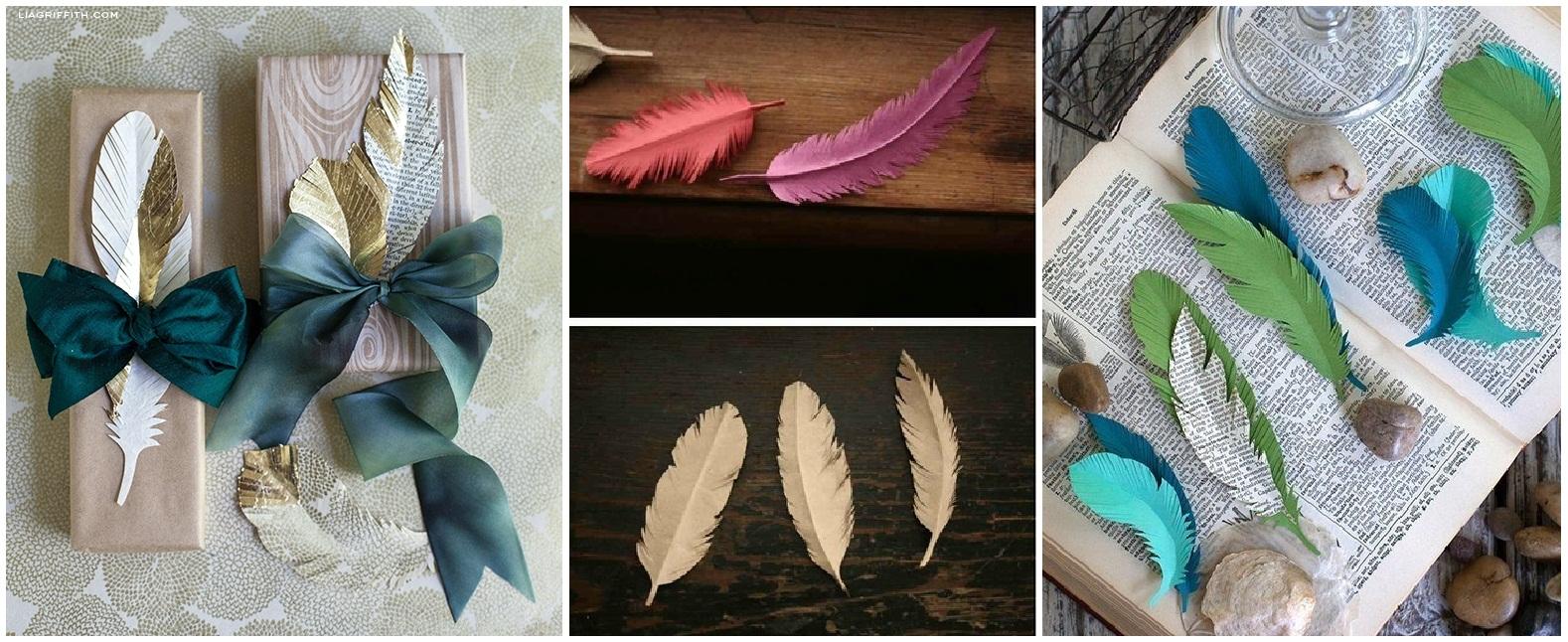 Открытки своими руками с перьями
