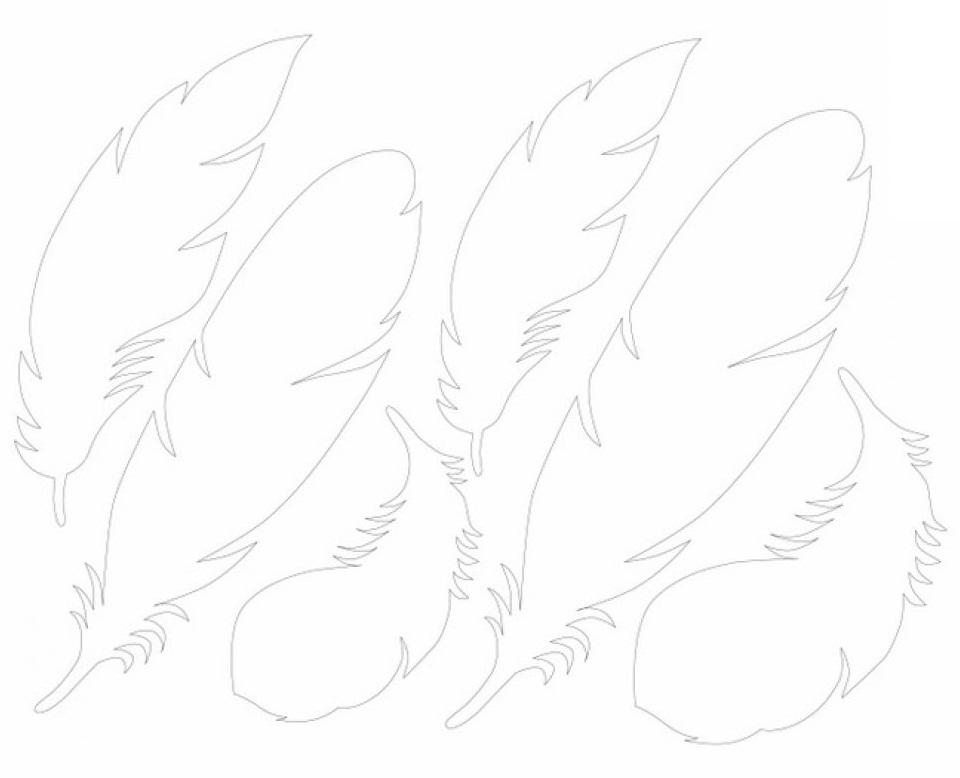 Перья из бумаги своими руками схемы шаблоны