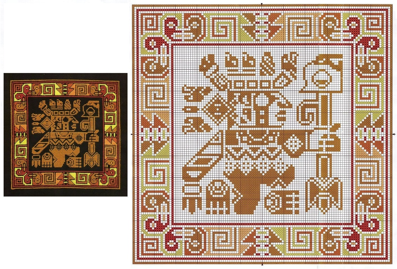 Вышивка крестом схемы узоров для подушек