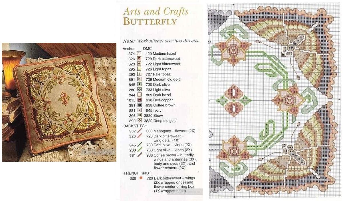 Схемы вышивок подушек