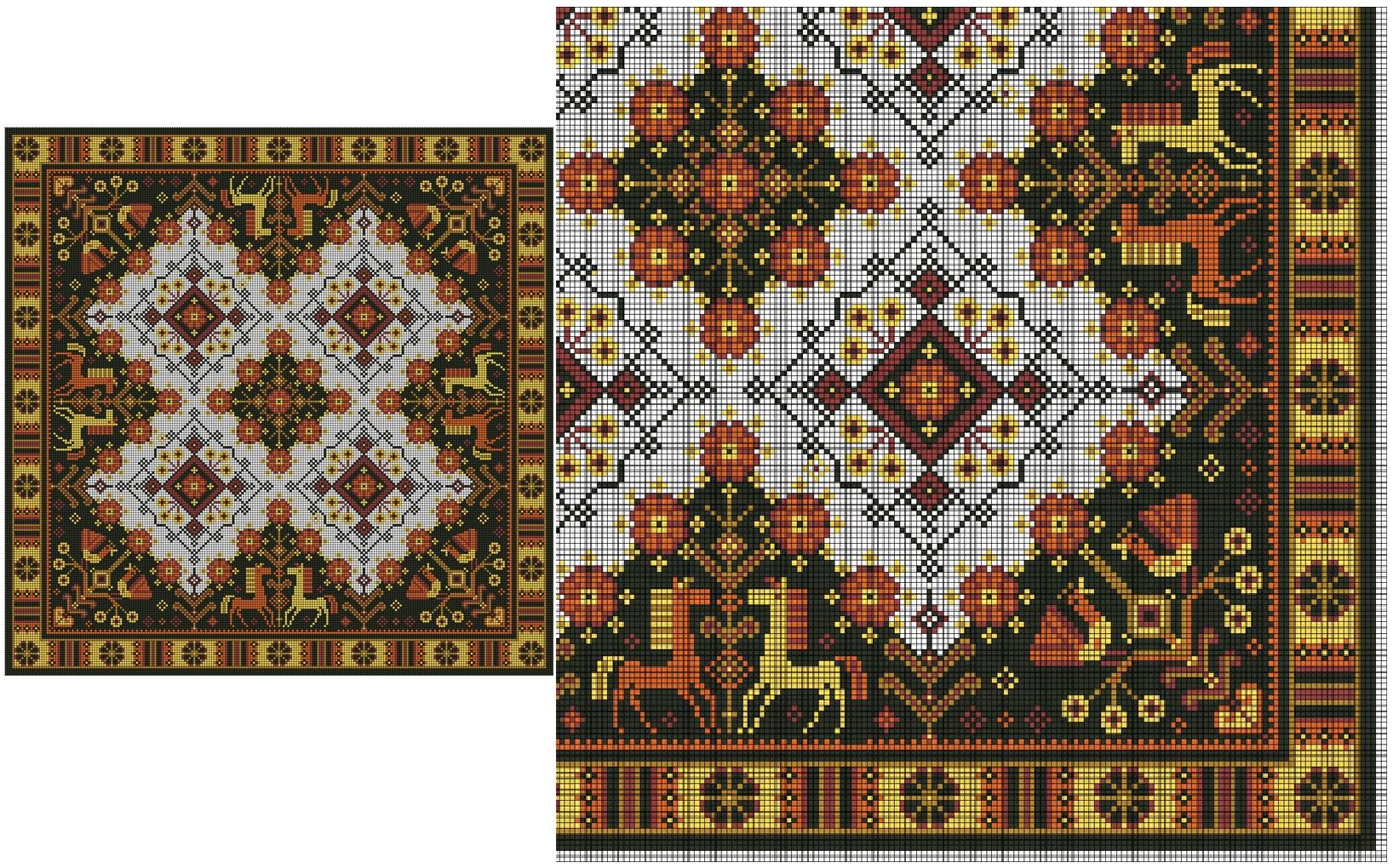 Вышивка узоры схемы подушки