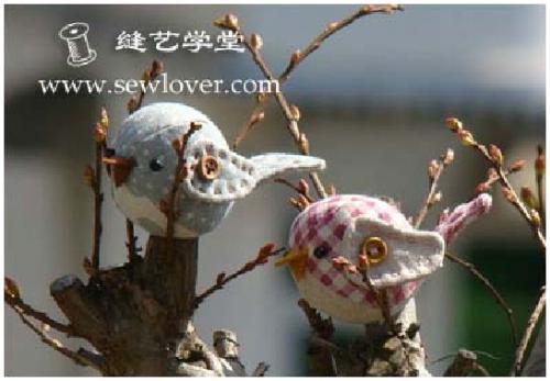 текстильные птички, выкройка, мастер-класс, мягкая игрушка