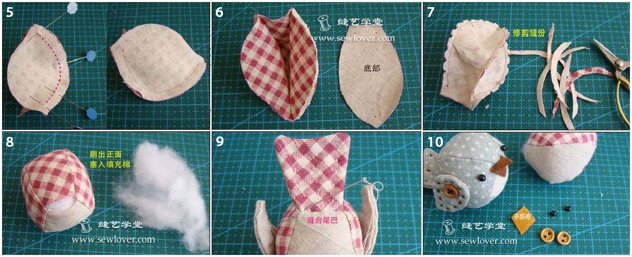 Как сделать птиц своими руками из ткани