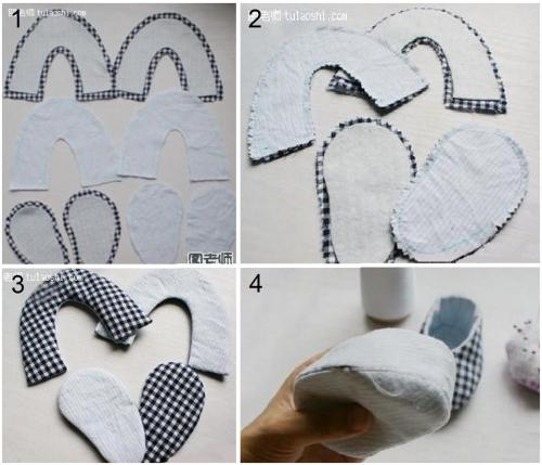 Как сделать шов на пинетках