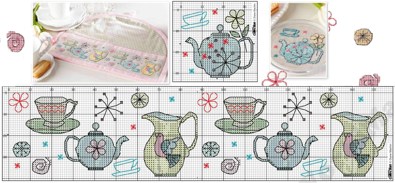 Схемы вышивки крестом для кухни 39
