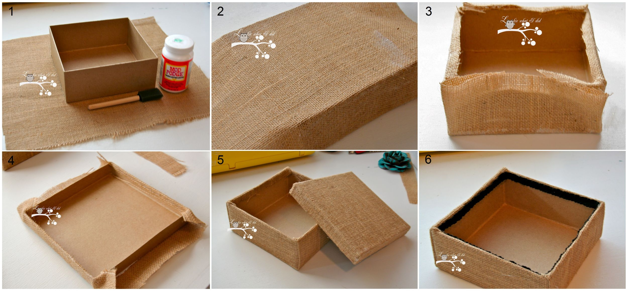Украшение коробок и шкатулок