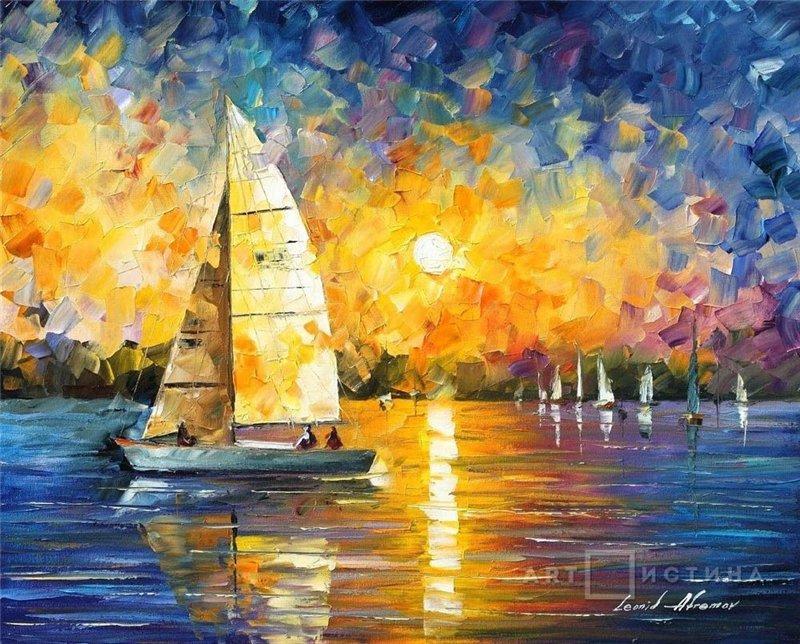 Картинки масляными красками для начинающих картинки осень