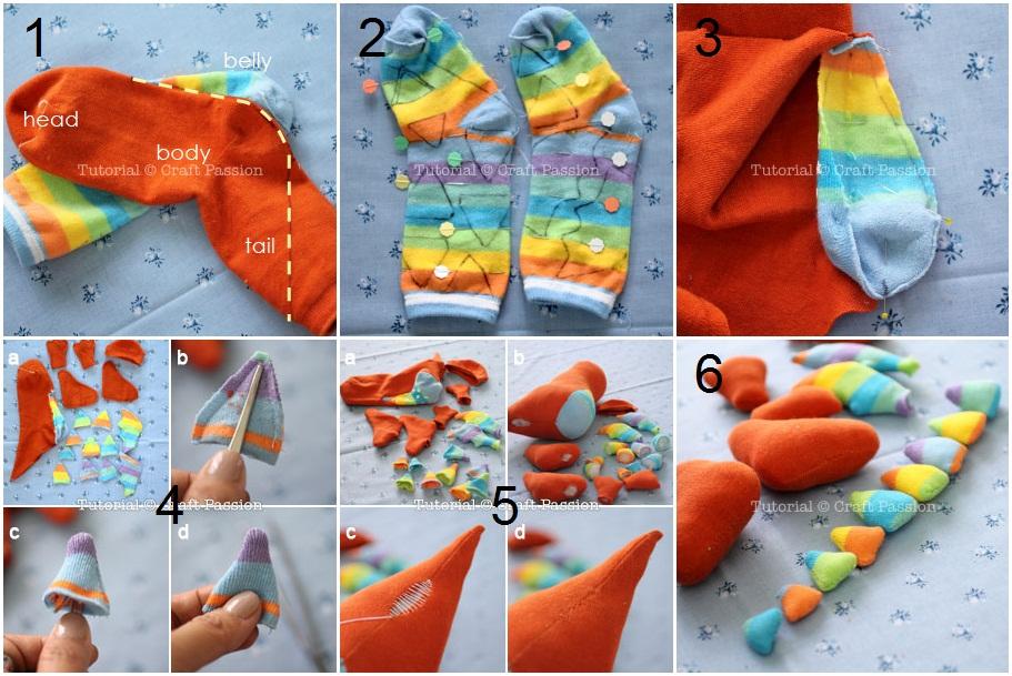 Игрушки своими руками из носков схемы