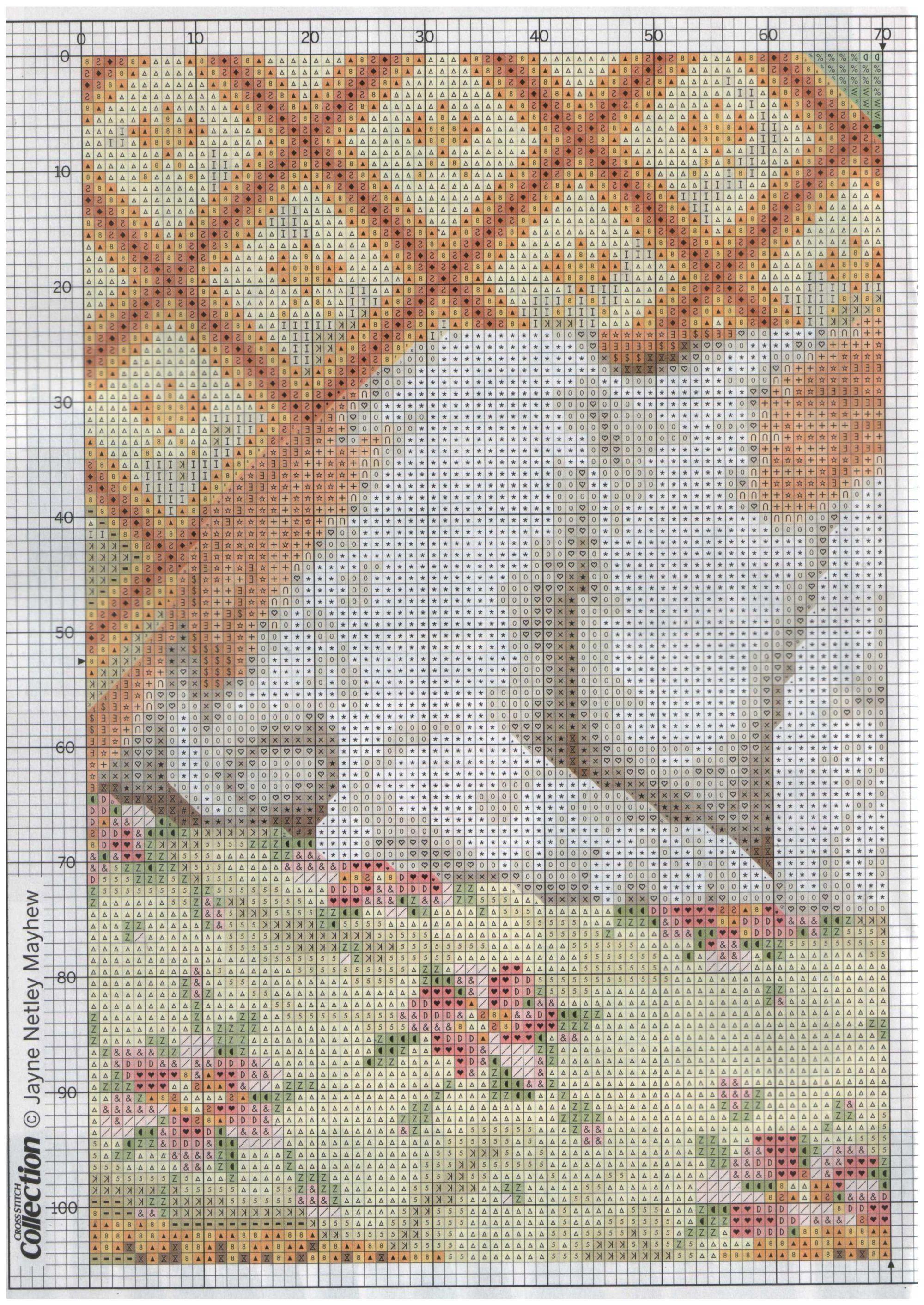 цветы рамка вышитая схема
