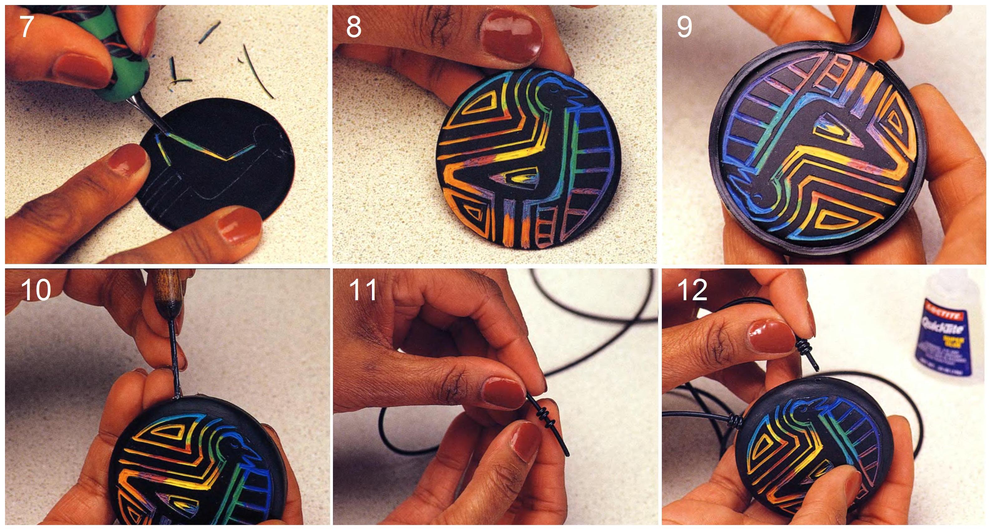 Как сделать кулон своими руками из полимерной глины