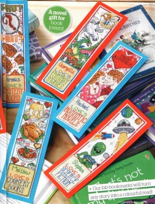 закладки для книг своими руками с вышивкой, схема вышивки крестом, подборка схем
