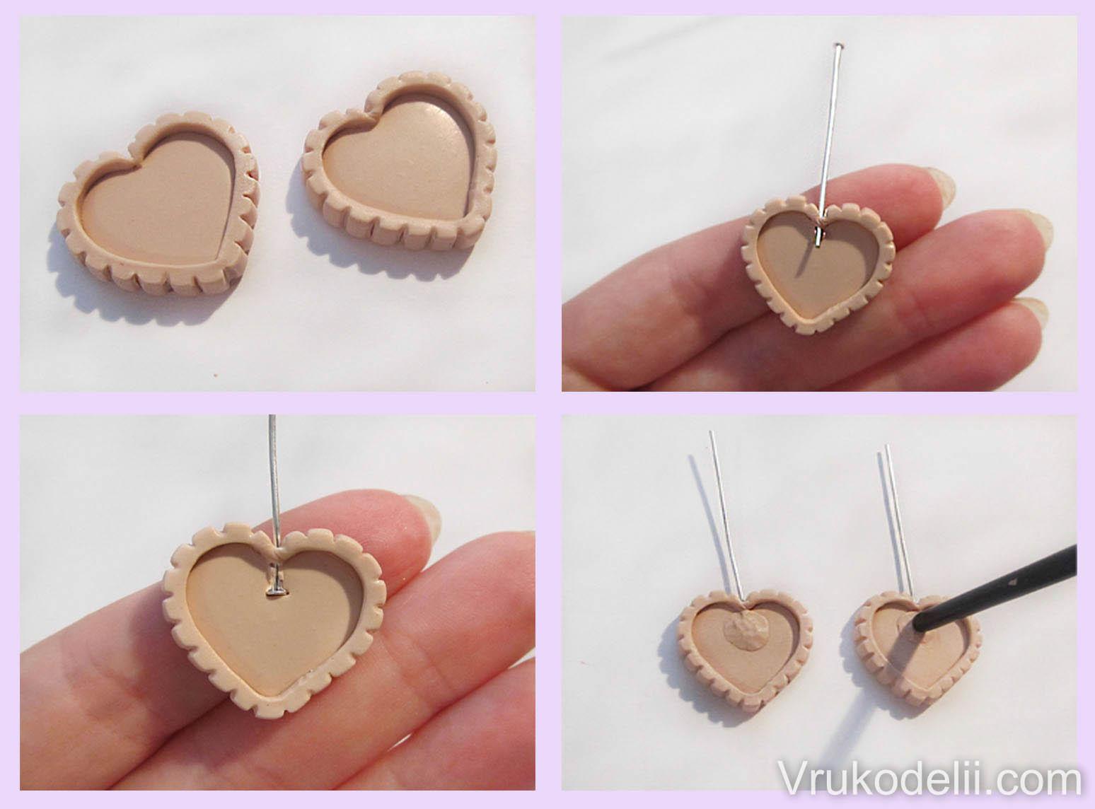 схема плетения серёжек в виде сердца