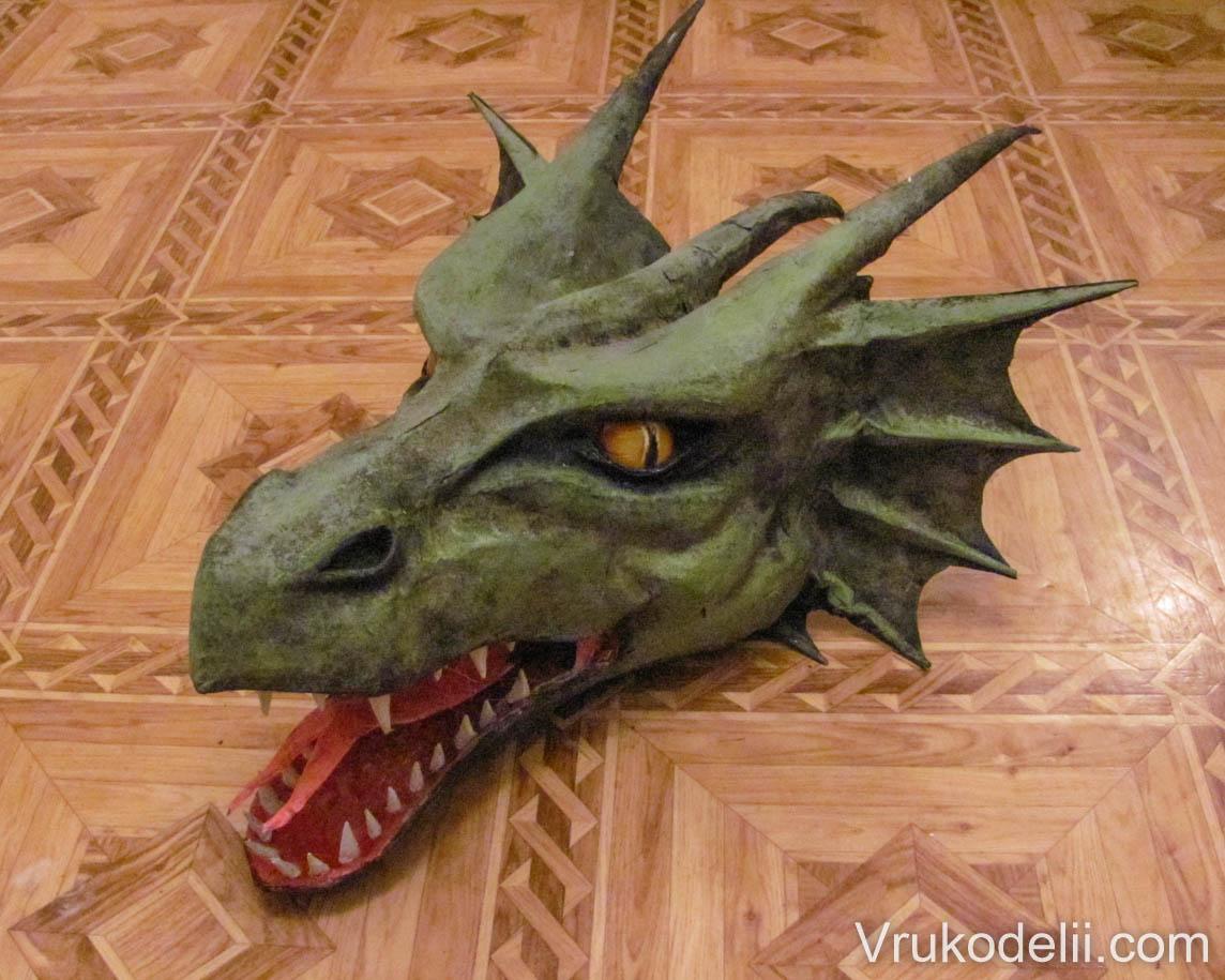 Как из бумаги сделать голову дракона