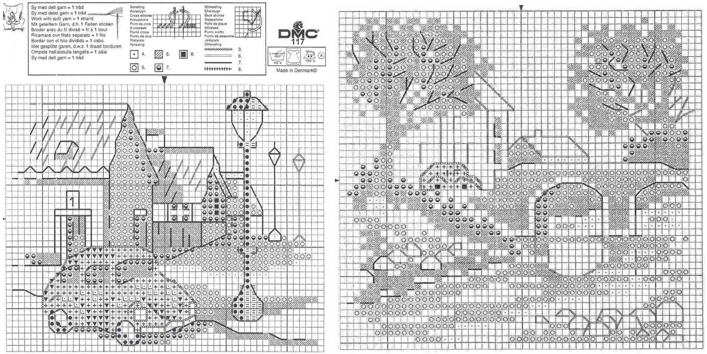Маленькие схема вышивки крестом черно белые 66