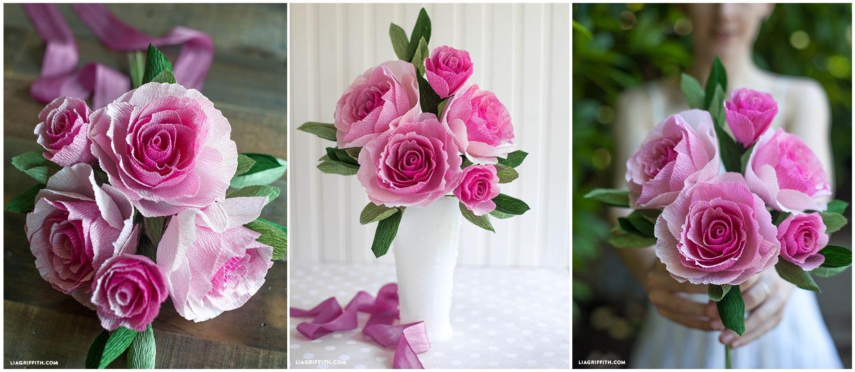 Какие цветы можно сделать из гофрированной бумаги 140