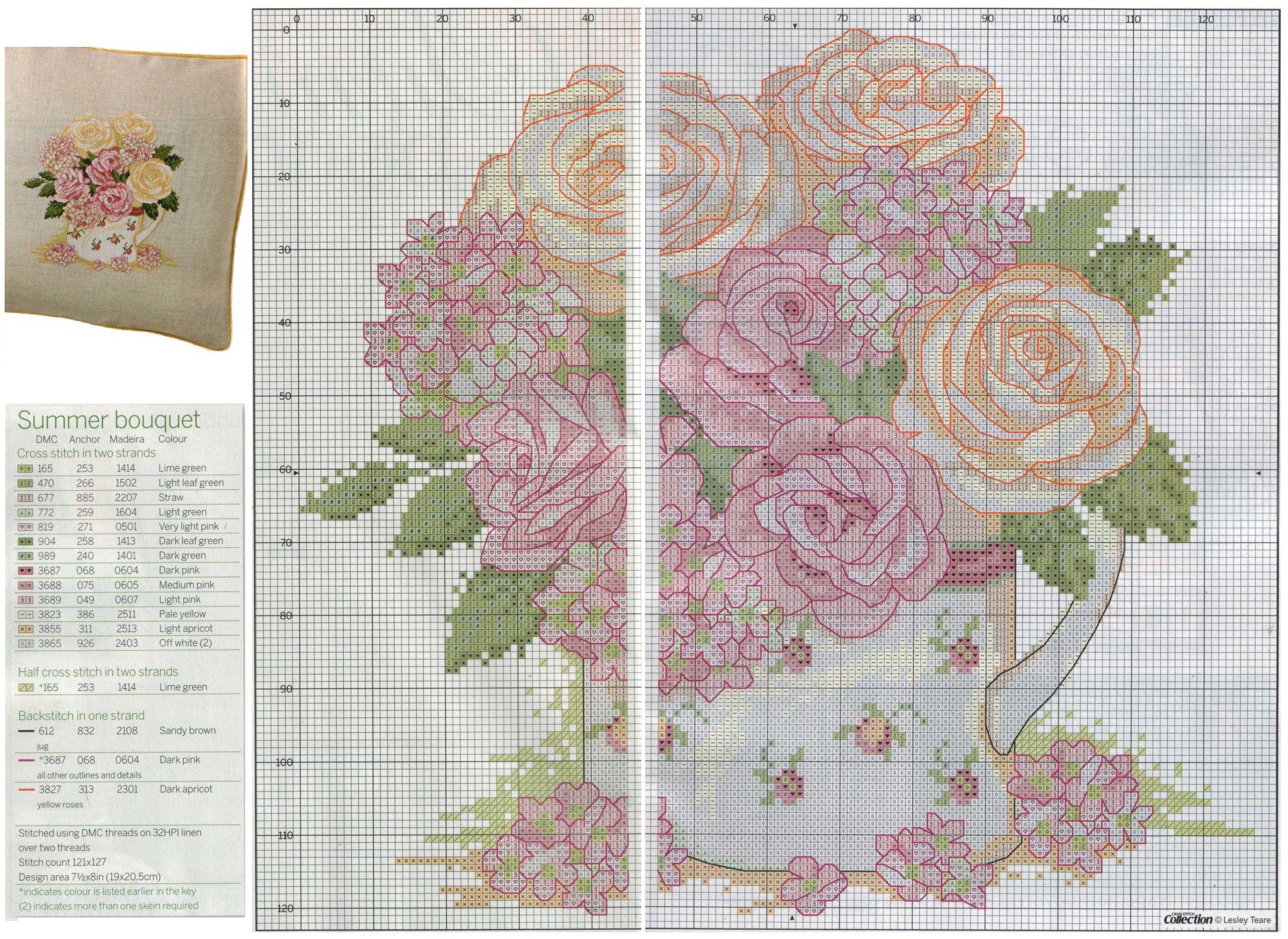 Схема для вышивок с разметками