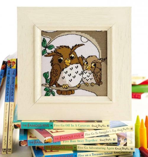 сова с совенком, схема вышивки крестом, картина, панно, совы