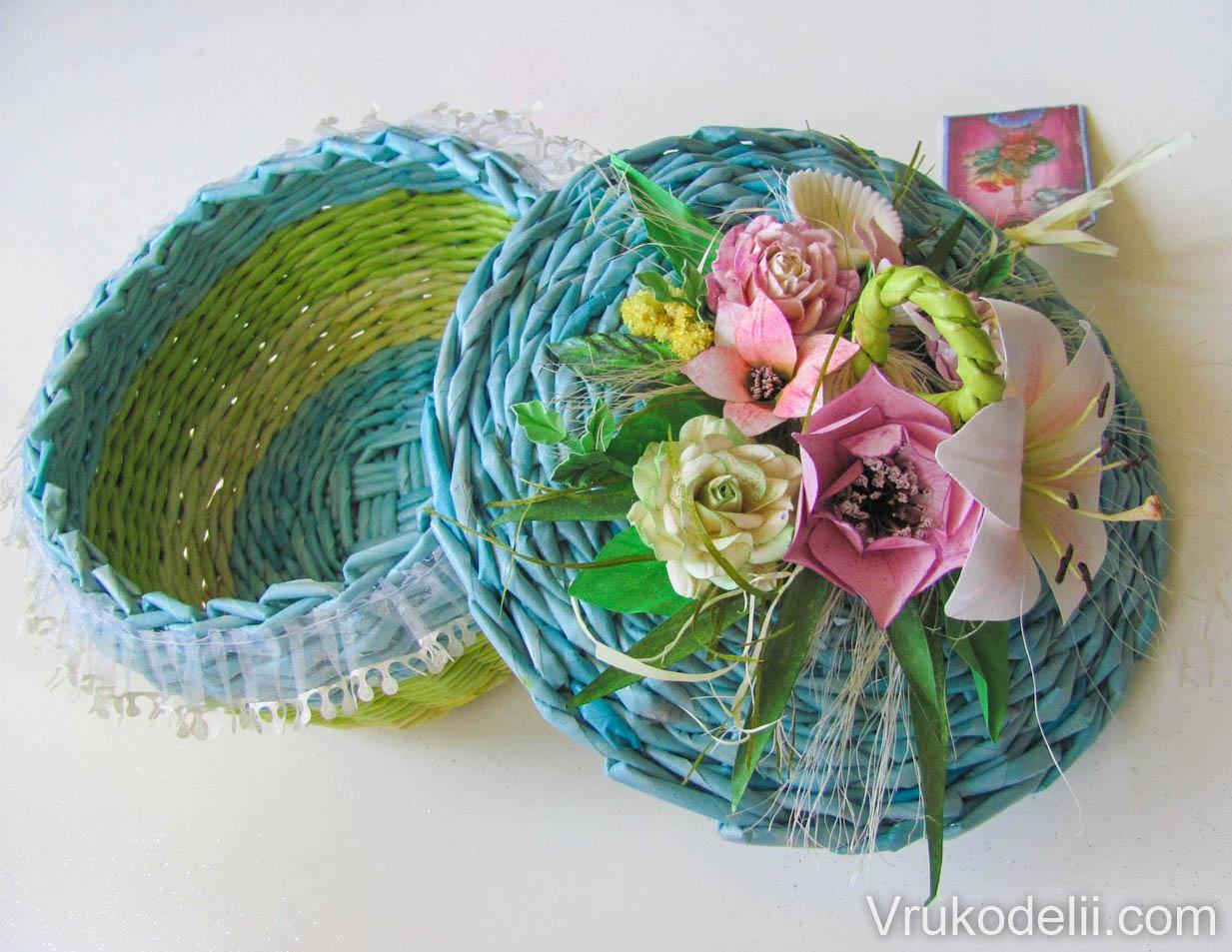 плетение из бумаги своими руками схемы