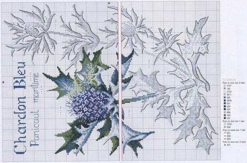 Чертополох схема для вышивки крестом 152