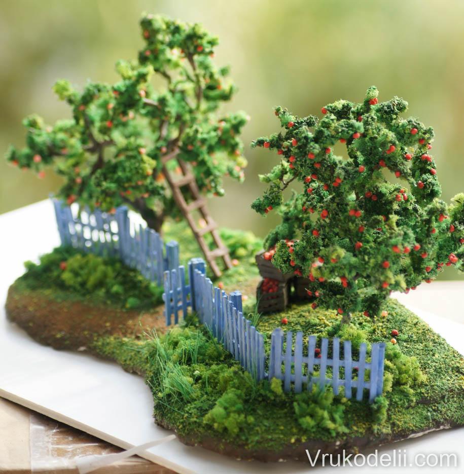 Миниатюры деревьев своими руками