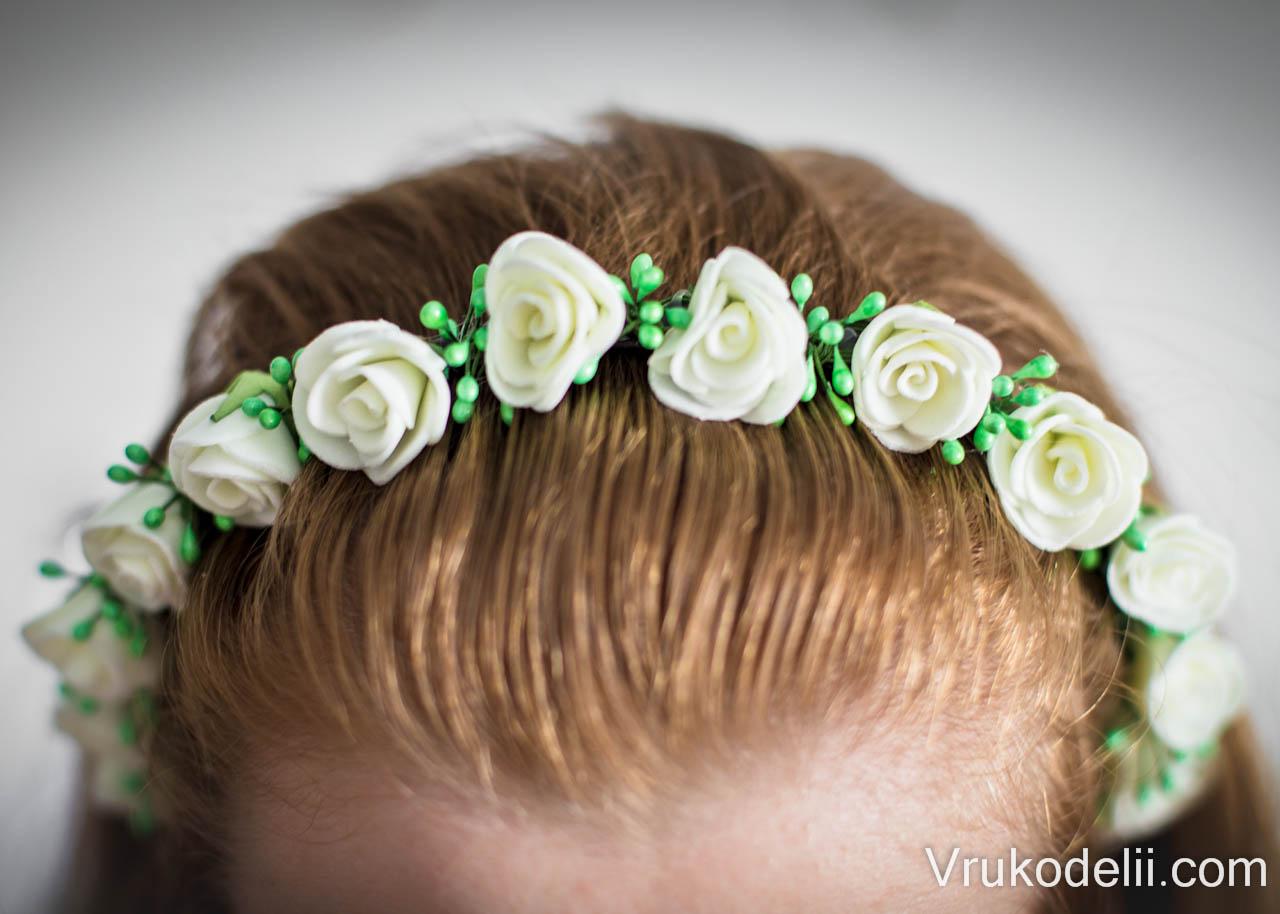 Как сделать цветы для волос своими руками