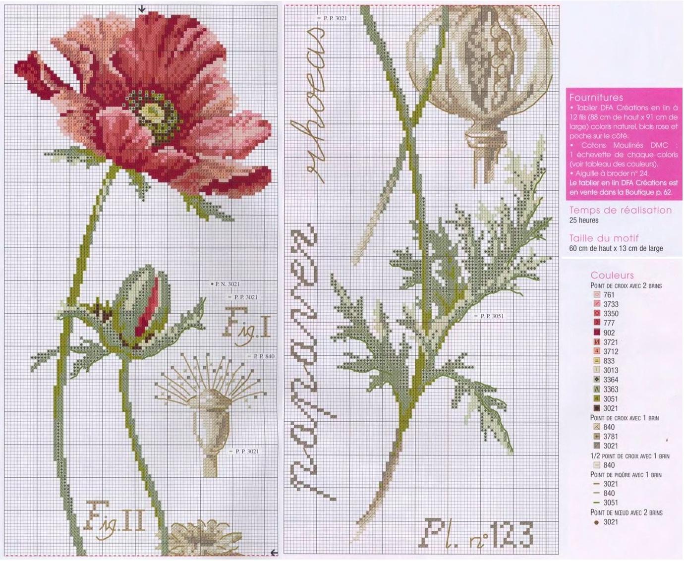 Бесплатные схемы для вышивки цветы маки