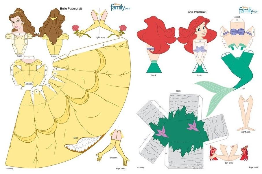 Паперкрафт схемы объёмные поделки из бумаги 543