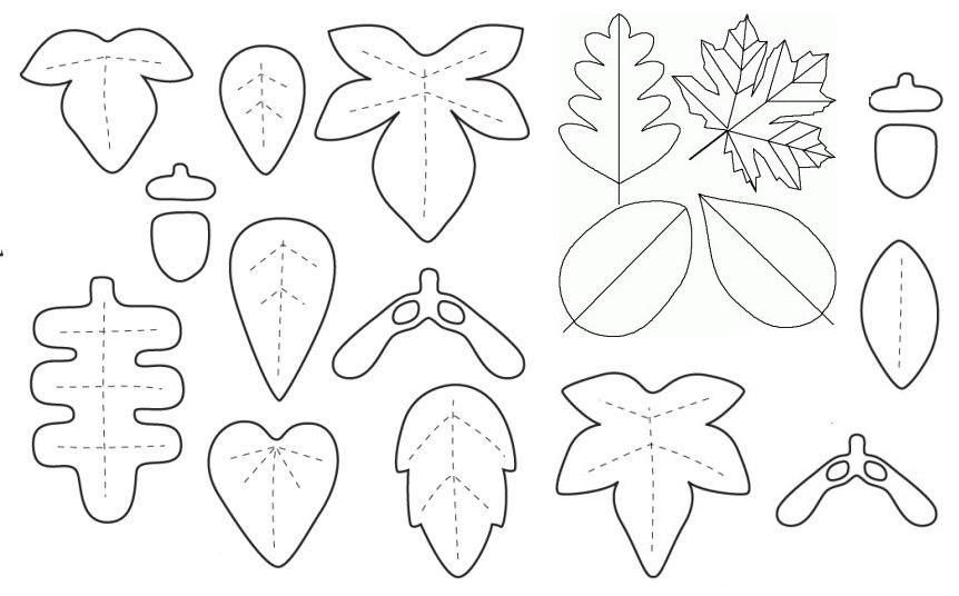 Moldes De Hojas De Las Palmas Para Imprimir: Декор для дома: уютные осенние листочки / Декор, Шитьё / В