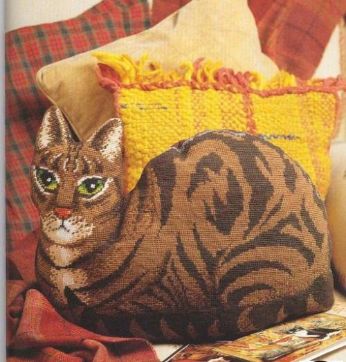 Вышивки кошки своими руками