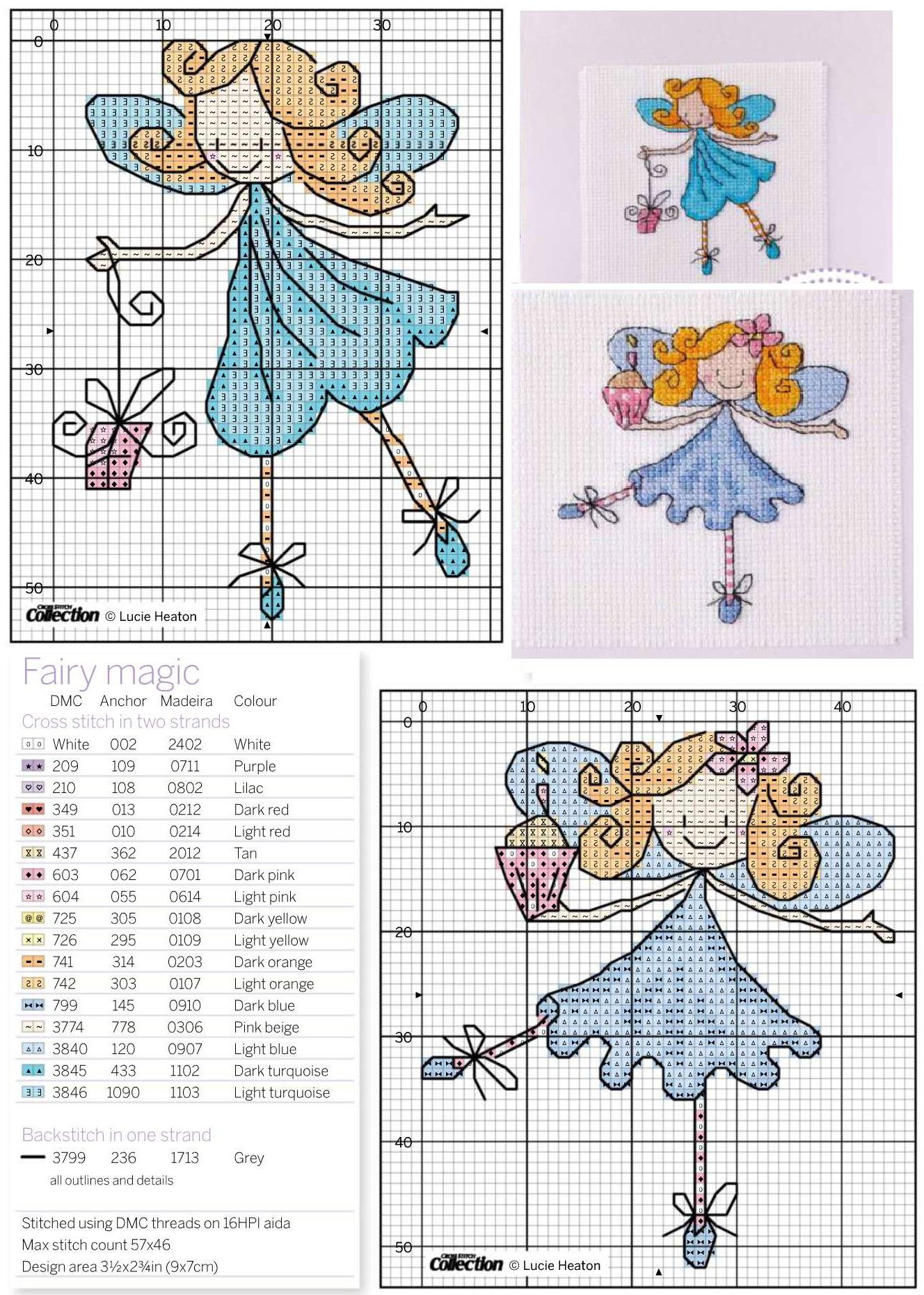 Схемы вышивки крестиком принцесс