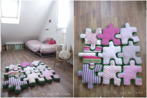 шьем своими руками напольные подушки в виде пазла для детской, выкройки для детей, мягкие игрушки, подушки своими руками