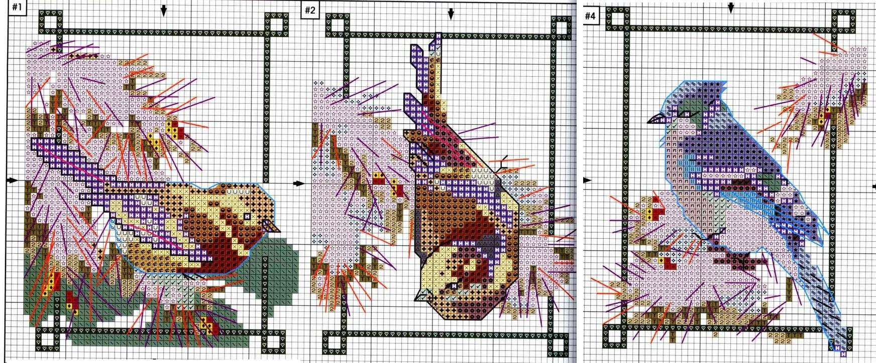 Миниатюрные схемы для вышивки крестиком