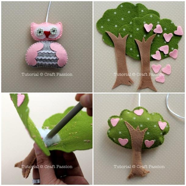 Поделки своими руками из фетра дерево