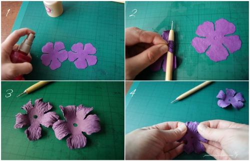 Как сделать мелкие цветы из бумаги