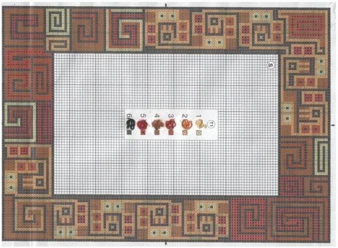 Рамка вышивка крестиком схема