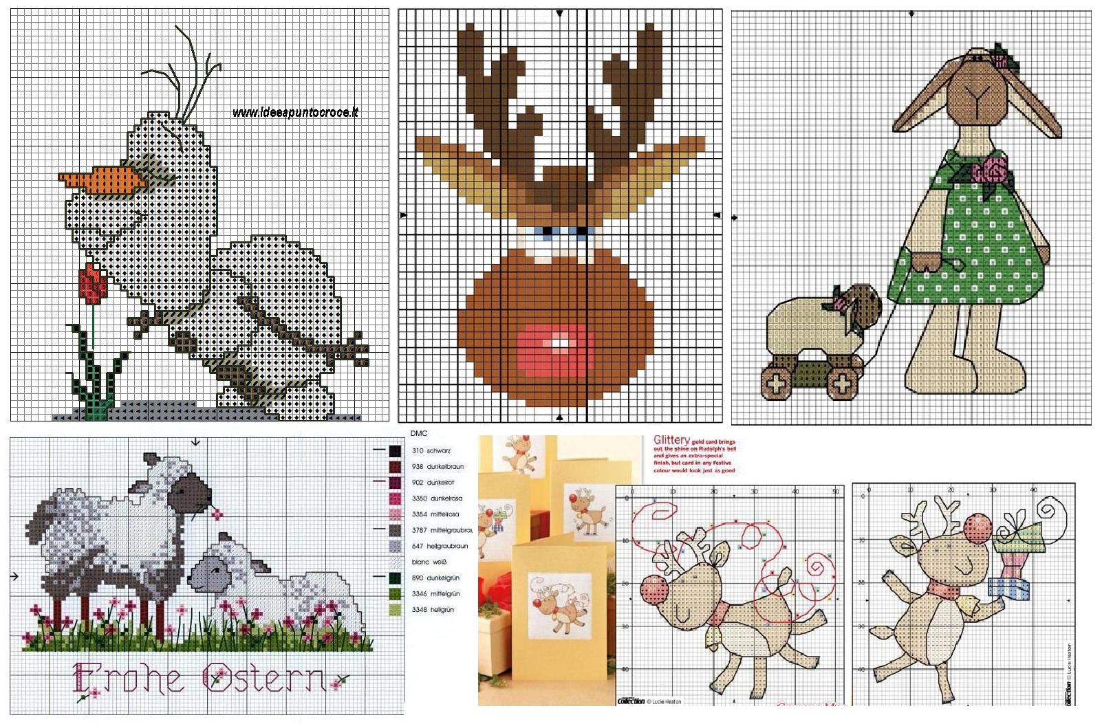 Маленькие схемы вышивки крестиком - смешные зверюшки 23