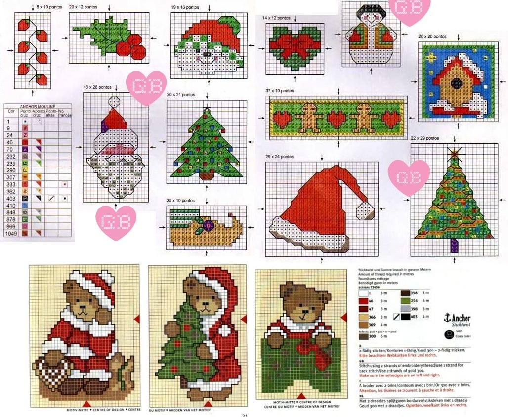 Санта вышивка крестом схема