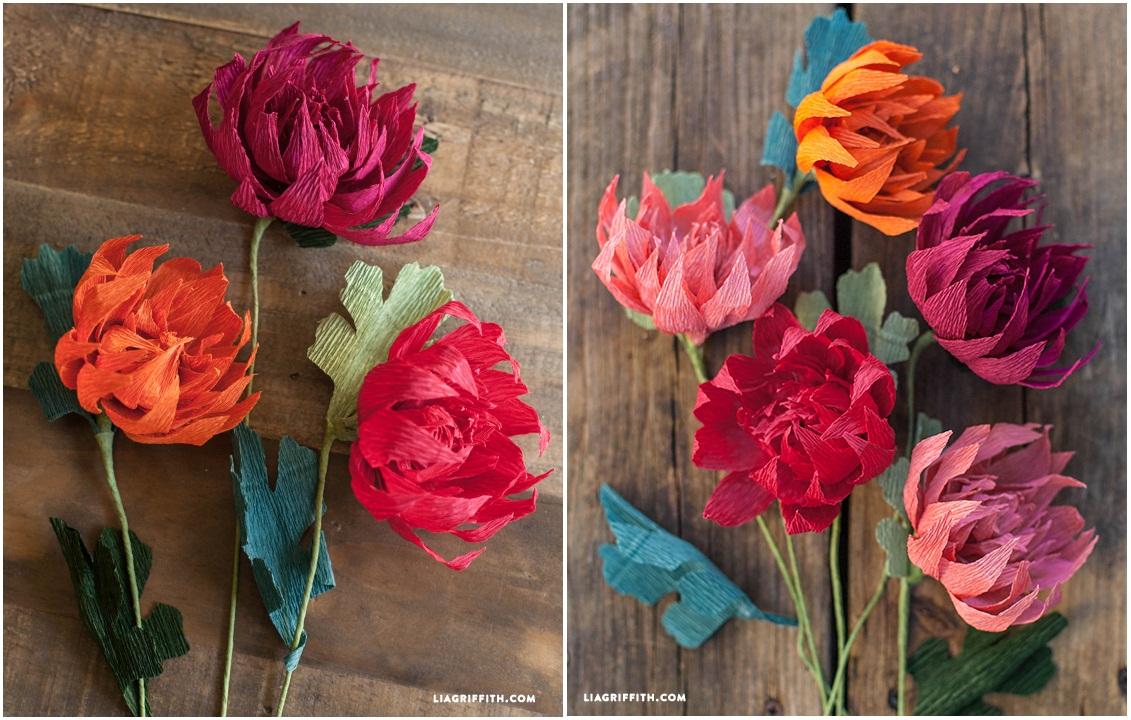 Цветы из простой бумаги своими руками мастер класс